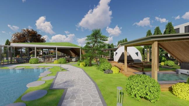 密云极星农业生态营地温泉      高颜值、设计感有机营地温泉